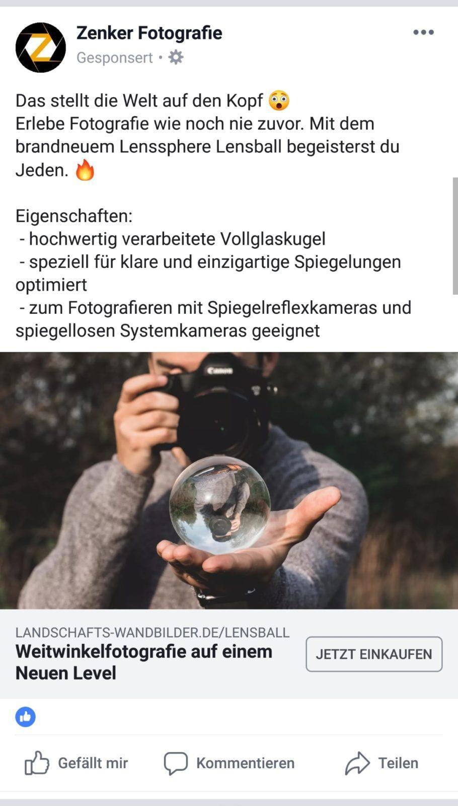 Facebook-Werbeanzeige Agentur Delitzsch